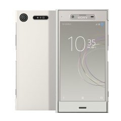 Official Sony Xperia XZ1 Style Cover Touch Case - Silver