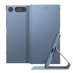 Qualitative Tasche für das Sony Xperia XZ1 bietet Schutz vor Schmutz und Kratzern. Mit der integrierten Standfunktion kann das Sony Xperia XZ1 in eine bequeme Position aufgestellt werden