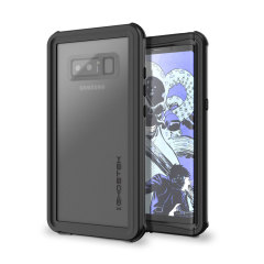 Shield your precious Samsung Galaxy Note 8 on both land and at sea with the extremely tough, yet incredibly stylish Nautical Series Waterproof case from Ghostek in black. Protecting your Note 8 from depths of up to 1 meter for up to 30 minutes.