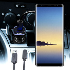 Keep your Samsung Galaxy Note 8 fully charged on the road with this compatible Olixar high power dual USB 3.1A Car Charger with an included high quality USB to USB-C charging cable.