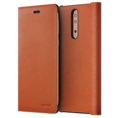 Prestigiosa protección y lujoso estilo clásico. Proteja la espalda, los lados y la pantalla de su Nokia 8 contra el daño mientras mantiene sus tarjetas más importantes cerca con la funda de tapa de cuero oficial de Nokia.