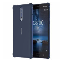 Official Nokia 8 Soft Touch Case - Blue