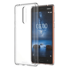 Protect your Nokia 8 from harm in perfect clarity with the official Hybrid Crystal case from Nokia.