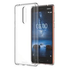Official Nokia 8 CC-701 Hybrid Crystal Case - Clear