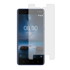 Protect your Nokia 8's screen from harm in perfect clarity with the official V1 tempered glass screen protector from Nokia.