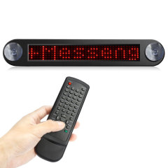Don't just say it - display it. This fully programmable LED message board can be mounted easily on your vehicle's rear windshield, displaying up to 10 user-programmable messages and 99 preset phrases. Comes complete with intuitive remote control.