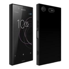FlexiShield Sony Xperia XZ1 Compact Gel Hülle in Jet schwarz