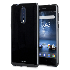 Custom moulded for the Nokia 8, this solid black Olixar FlexiShield case provides a slim fitting stylish design and durable protection against damage, keeping your device looking great at all times.