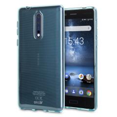 Olixar FlexiShield Case Nokia 8 Hülle in Blau