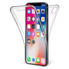 Coque iPhone X Olixar FlexiCover protection complète en gel \u2013 Transp.