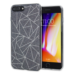 Shine on you crazy diamond with the Shine Bright Like a Diamond iPhone 8 Plus / 7 Plus case from LoveCases. A black slim polycarbonate case with gel bumper protects your phone while the glitter and geometric diamond design brings the bling.
