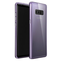 Luphie Glass and Metal Samsung Galaxy Note 8 Bumper Case - Orchid Grey
