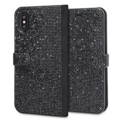 Form trifft Funktion in diesem eleganten, untertriebenen aber unbestreitbar nachsichtigen Brieftasche für iPhone X. Eingebettete Kristalle schmücken diese Hülle, während 2 Kartenfächer Ihnen erlauben, Karten, ID und mehr zu speichern.