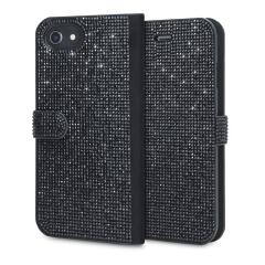 Form trifft Funktion in diesem eleganten, untertriebenen aber unbestreitbar nachsichtigen Brieftasche für iPhone 8 / 7. Eingebettete Kristalle schmücken diese Hülle, während 2 Kartenfächer Ihnen erlauben, Karten, ID und mehr zu speichern. Auch kompatibel mit 6S Plus / 6 Plus.