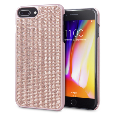 Indulge your iPhone 8 Plus / 7 Plus with this luxurious rose gold case from LoveCases. Your iPhone fits perfectly into the secure, durable frame, while a curtain of gems adorns the back, adding a touch of class. Also compatible with 6S Plus / 6 Plus.