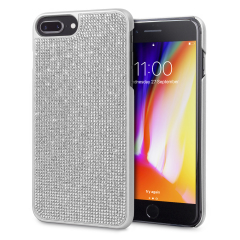 LoveCases Luxury Crystal iPhone 8 Plus / 7 Plus Skal - Silver