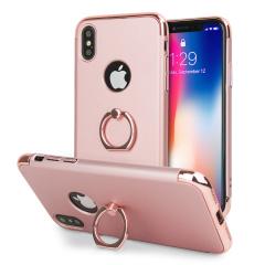 Olixar X-Ring iPhone X Finger Loop Case - Rose Gold