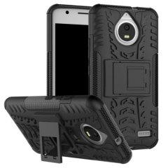 Protégez votre Motorola Moto E4 des chocs et des éraflures grâce à cette coque Olixar ArmourDillo en coloris noir. Cette coque est composée d'un boîtier interne en TPU et d'un exosquelette externe résistant aux impacts. Elle comprend par ailleurs un support de visualisation intégré.