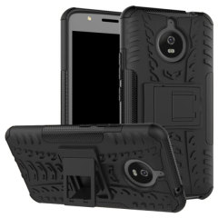Protect your Motorola Moto E4 Plus from bumps and scrapes with this black Olixar ArmourDillo case. Comprised of an inner TPU case and an outer impact-resistant exoskeleton, the ArmourDillo provides robust protection and supreme styling.