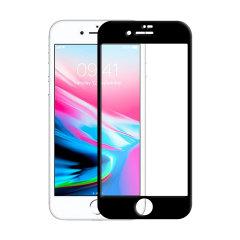 Olixar iPhone 8 Edge to Edge Tempered Glass Screen Protector -  Black