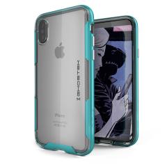 Ghostek Cloak 3 iPhone X Tough Case - Clear / Teal