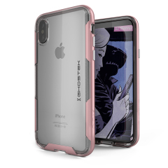 Ghostek Cloak 3 iPhone X starke Hülle - Klar / Rosa