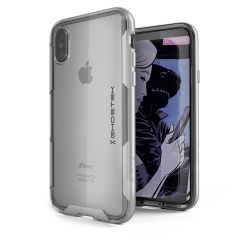 The Cloak 3 Protective case in silver and clear from Ghostek provides your iPhone X with fantastic all round protection without hiding any of its beauty and style.