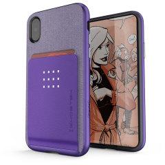 Ghostek Exec Series iPhone X Wallet Case - Purper