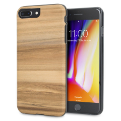 Presenting the Cappuccino design. A beautiful genuine wood case for your iPhone 8 Plus / 7 Plus. Selected premium woods from sustainable sources are crafted into a form-fitting case for your phone that is as stunning as it is protective.