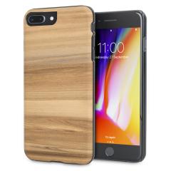 Man&Wood iPhone 8 Plus / 7 Plus Hölzerne Hülle - Cappuccino