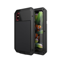 Protect your iPhone X with one of the toughest and most protective cases on the market, ideal for helping to prevent possible damage from water and dust - this is the black Love Mei Powerful Protective Case.