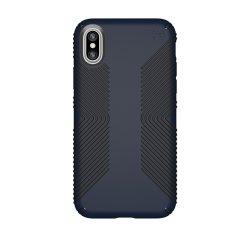 Speck Presidio Grip iPhone X Tough Skal - Eclipse Blå / Kolsvart