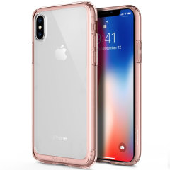 Obliq Naked Shield iPhone X Gold Case - Rose Gold
