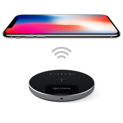 Enjoy the cable-free convenience of fast wireless charging on the move for your compatible smartphone with this compact, lightweight Qi wireless pad from Satechi.