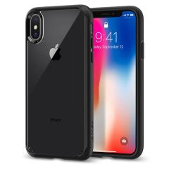 Spigen Ultra Hybrid iPhone X Case - Matte Black