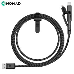 Featuring not one, not two, but three charging connectors - Micro USB, Lightning and USB-C - this durable, stylish and highly functional cable from Nomad allows you to charge virtually any smartphone on the market.