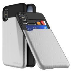 Prodigee Undercover iPhone X Kartenfach Hülle - Silber