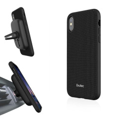 Protect your stunning iPhone X with the AERGO Ballistic Nylon case in black from Evutec. The AERGO features Evutec's proprietary material Evusoft, which offers peerless shock absorption, and comes complete with the AFIX+ magnetic in-car vent mount.