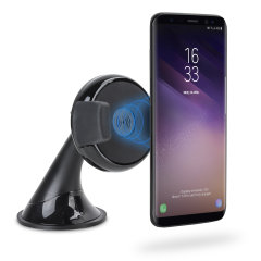 Wirelessly charge your Qi-enabled smartphone in-car with this wireless charging car holder. Securely position your device in either portrait or landscape all while enjoying convenient and efficient Qi wireless charging.