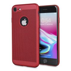 Olixar MeshTex iPhone 8 / 7 Hülle - Brazen Rot