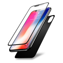Olixar GlassTex iPhone X Screen and Back Glass Protectors - Space Grey