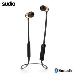 Sudio VASA Bla Wireless Bluetooth Earphones - Black / Rose Gold