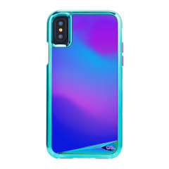 Feeling happy? Sad? Angry? Triumphant? Thermochromic film on the Case-Mate Mood two-piece case for iPhone X changes colour to match your feelings, so you'll always be able to express yourself. Hardy construction also provides protection for your device.