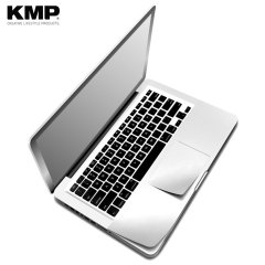 "Keep your MacBook Pro Retina 15 safe from dust, debris and scratches with this protective skin from KMP. This ""second skin"" effortlessly attaches to the surface of your MacBook, shielding it from surface damage and taking nothing away from the aesthetic."