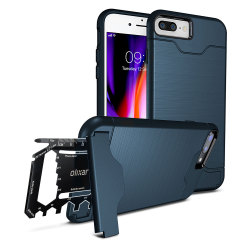 Prepare your iPhone 8 Plus / 7 Plus for the great outdoors with the rugged Olixar X-Ranger case in marine blue. With a handy kickstand and a secure compartment for the included multi-tool - or the card of your choice - you'll be ready for anything.