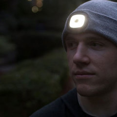 Light your way when exploring, dog walking, going for a late night run or simply relaxing with friends outdoors. This warm, well-made and well-fitting beanie hat from Echo Three features a built-in rechargeable 150-lumen headlamp for outdoor adventures.