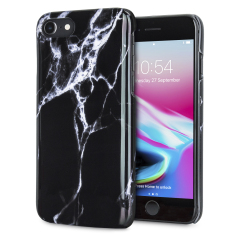 Enhance and protect your iPhone 8 / 7 with this glamorous black case from LoveCases. Your iPhone fits perfectly into the secure, durable frame, while a classical marble-effect design adds a touch of historic prestige to your already-gorgeous device.