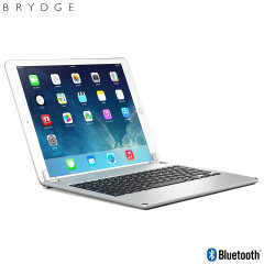 This durable, high quality and stylish Brydge iPad Pro 12.9 2015 aluminium Bluetooth keyboard case in silver allows you take your productivity to the next level while also protecting your device. Complete with backlit keys and a 180-degree viewing angle.