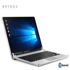 This durable, high quality and stylish Brydge Surface Pro 12.3 Inch aluminium Bluetooth keyboard case in silver allows you take your productivity to the next level, protect your tablet and expand its storage space with an ultra-fast 128GB SSD memory.