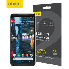 Olixar Google Pixel 2 XL Screen Protector 2-in-1 Pack